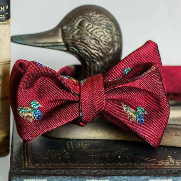 Wood Duck Bow Tie in Red by High Cotton