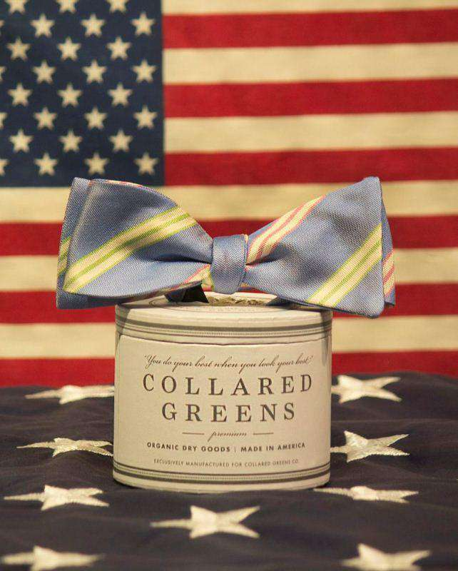 Bow Ties - Zenyatta Bow In Blue By Collared Greens