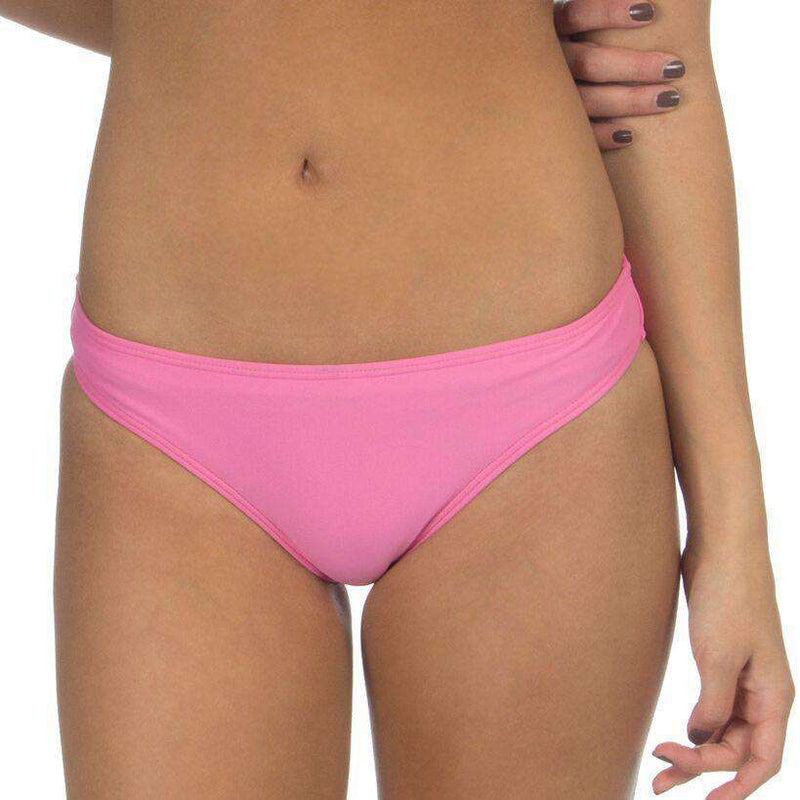 d0e7d1604f3 Lauren James Solid Bow Back Hipster Bikini Bottoms in Pink – Country ...