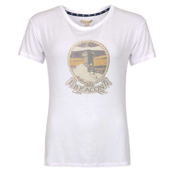 Bowline T-Shirt in White by Barbour  - 1