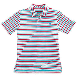 Boy's Polo Shirts - Boy's Freedom Rocks Stripe Performance Polo By Southern Tide