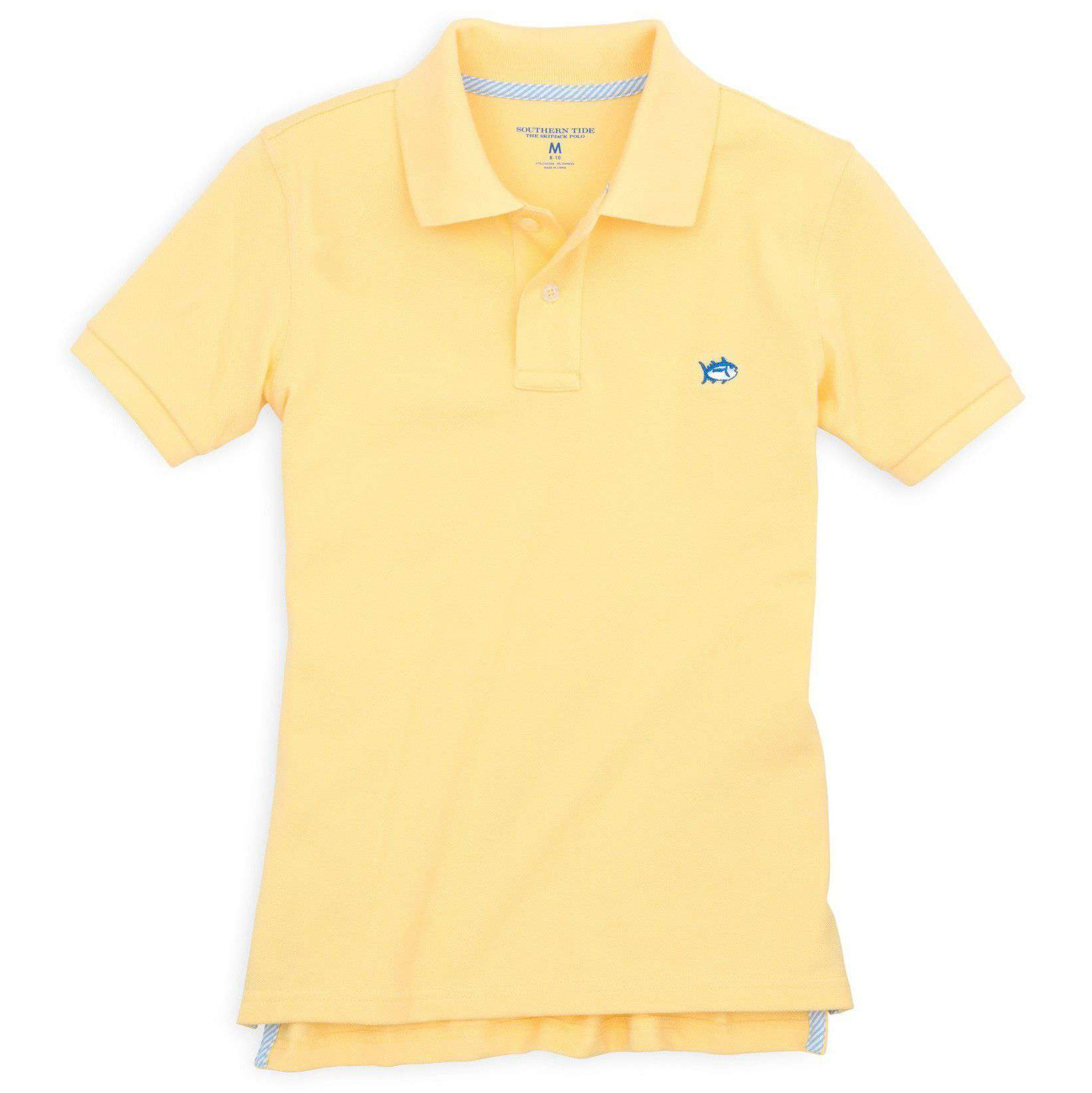 Southern Tide Boy S Skipjack Polo In Pineapple Country Club Prep