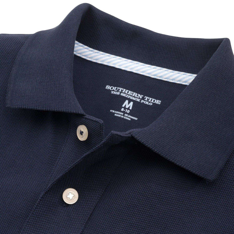 Boy's Skipjack Polo in True Navy by Southern Tide