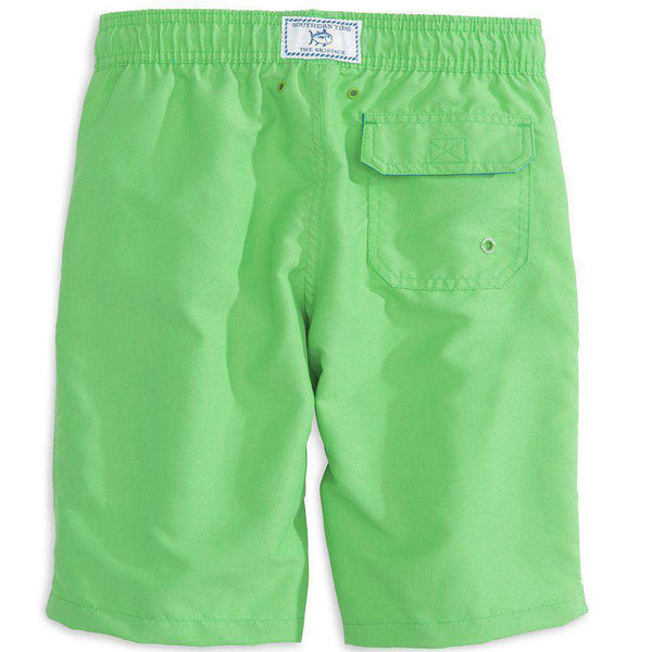 Boy's Solid Swim Trunk in Island Green by Southern Tide