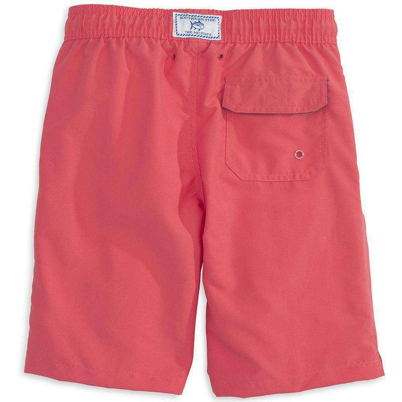 Boy's Solid Swim Trunk in Sunset by Southern Tide