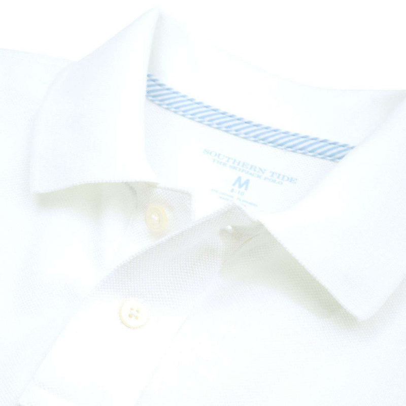 Boy's Skipjack Polo in Classic White by Southern Tide - FINAL SALE