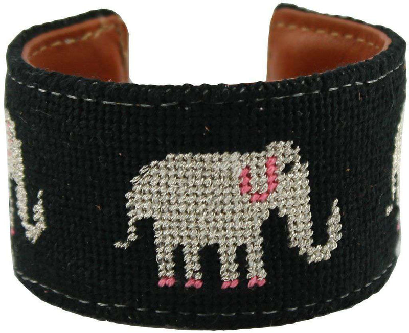 Bracelets - An Elephant Never Forgets Needlepoint Cuff Bracelet By York Designs