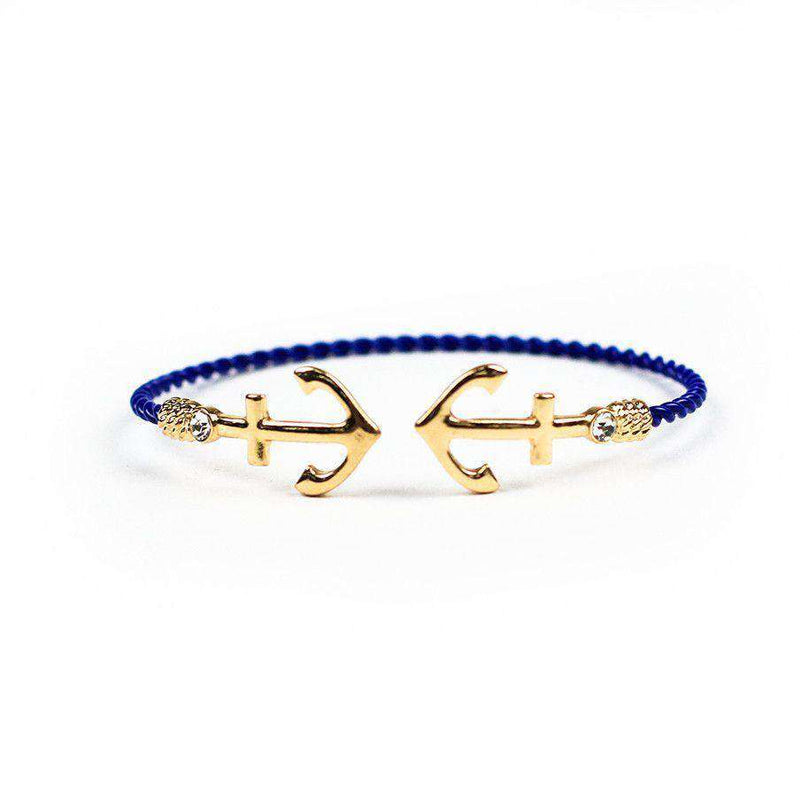 Bracelets - Anchor Bracelet In Blue By Country Club Prep