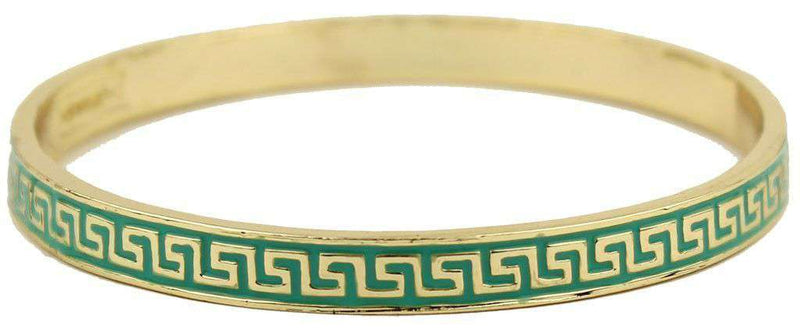 Bracelets - Apollo Bangle In Gold And Aqua By Fornash