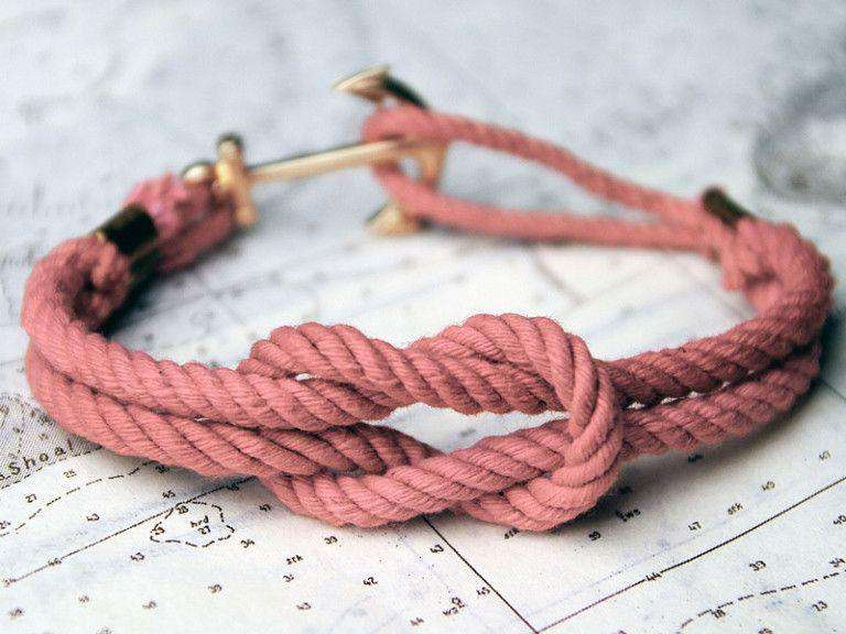 Bracelets - Asterly's Dock Pink Sunset Triton Knot Bracelet By Kiel James Patrick