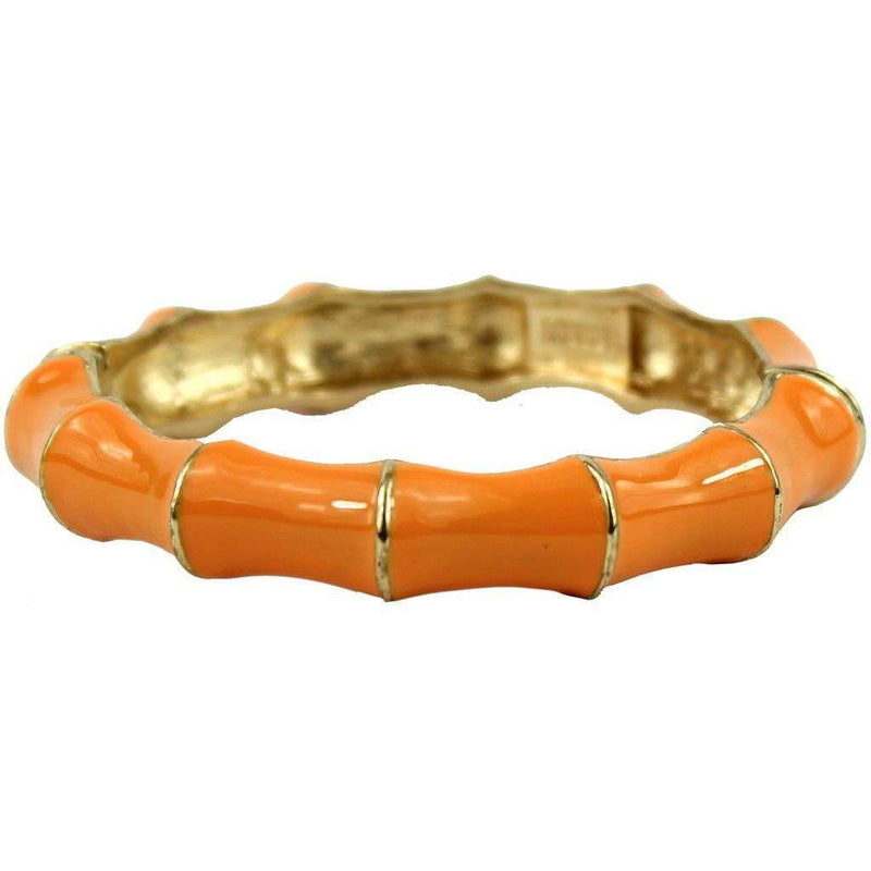 Bracelets - Bamboo Bangle In Orange By Pink Pineapple