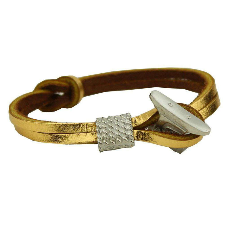 Bracelets - Boat Shoe Lace Bracelet In Gold By Category 5 Boat Shoes