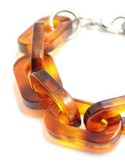 Bracelet in Tortoise Shell by Zenzii - Country Club Prep