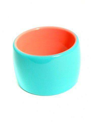 Bracelet in Turquoise/Coral by Zenzii - Country Club Prep