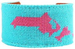 Bracelets - Cape Cod, MA Needlepoint Cuff Bracelet By York Designs