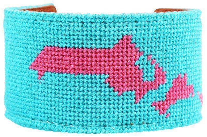 Cape Cod, MA Needlepoint Cuff Bracelet by York Designs - Country Club Prep