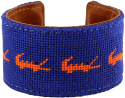 Florida Gator Needlepoint Cuff Bracelet by York Designs - Country Club Prep