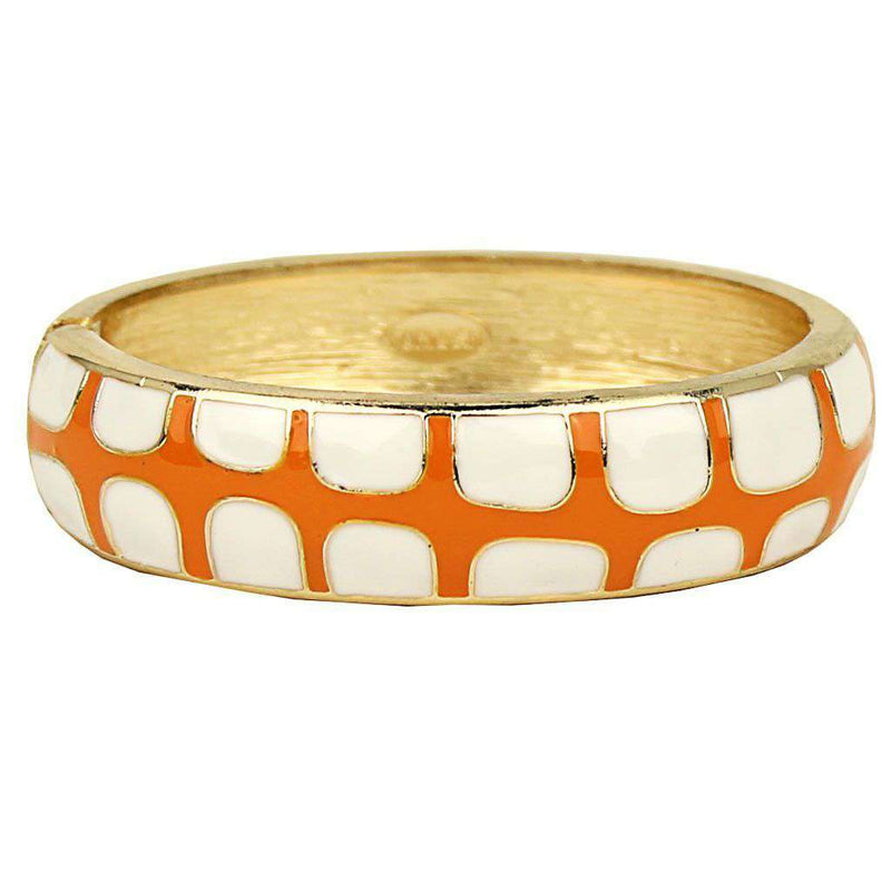 Bracelets - Gecko Bangle In White And Orange By Fornash