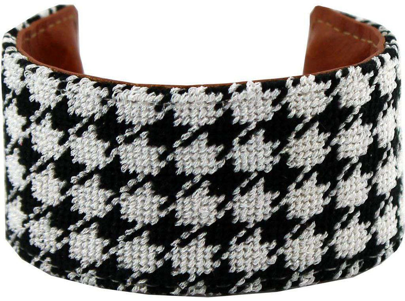 Bracelets - Houndstooth Needlepoint Cuff Bracelet By York Designs