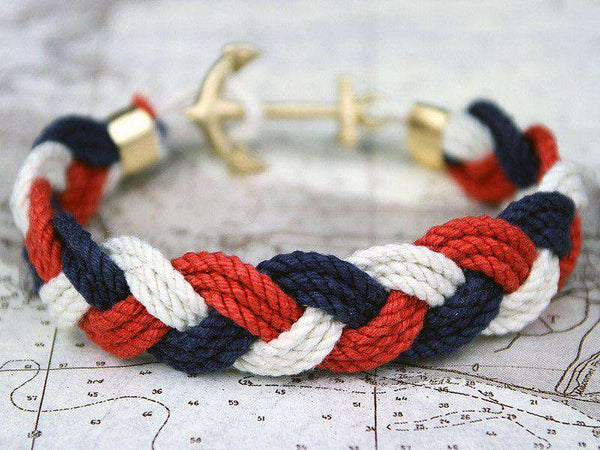 Bracelets - JFK Turk's Head Knot Bracelet By Kiel James Patrick