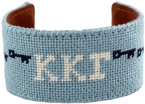 Kappa Kappa Gamma Keys Needlepoint Cuff Bracelet by York Designs - Country Club Prep