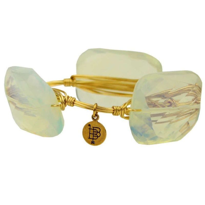 Large Stones Bracelet in Clear and Gold by Bourbon and Bowties