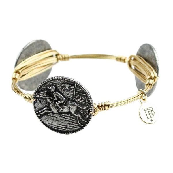 Bracelets - Limited Edition Horse Racing Coin Bangle By Bourbon And Bowties