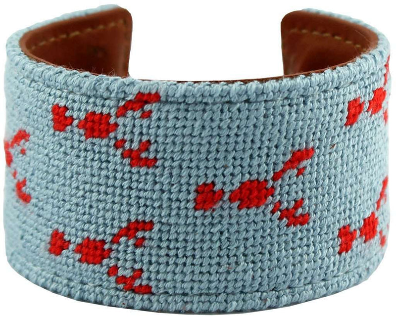 Maine Lobsta Needlepoint Cuff Bracelet by York Designs - Country Club Prep