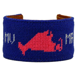 Martha's Vineyard, MA Needlepoint Cuff Bracelet by York Designs - Country Club Prep