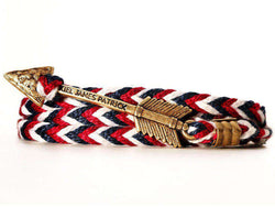 Bracelets - New England Jack Archer Bracelet In Red, White, And Navy By Kiel James Patrick