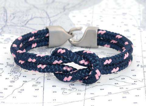 Bracelets - Newport Bracelet In Navy And Light Pink By Lemon & Line