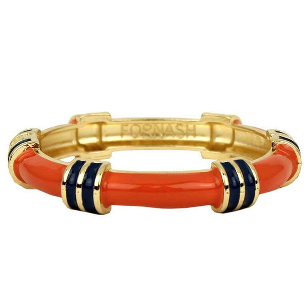 Regatta Bangle in Orange and Navy by Fornash