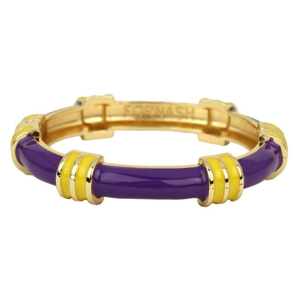 Regatta Bangle in Purple and Gold by Fornash