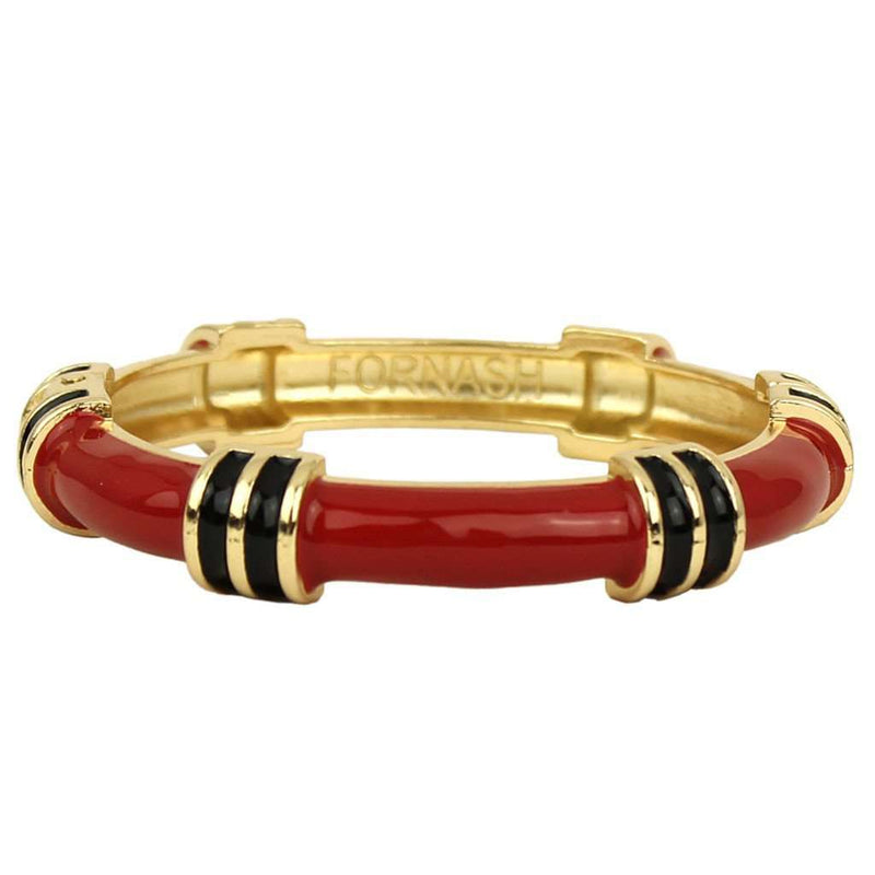 Bracelets - Regatta Bangle In Red And Black By Fornash