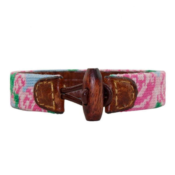 Rose Needlepoint Bracelet by Smathers & Branson