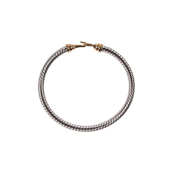Silver & Gold Cable Bracelet by Caroline Hill