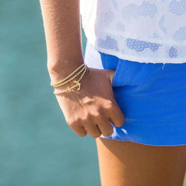 Bracelets - Skinny Golden Castaway Wrap By Kiel James Patrick