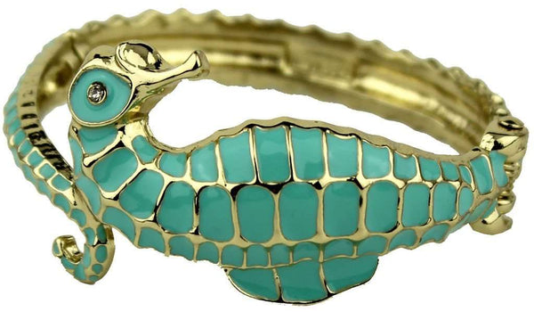 Under the Sea Bracelet in Gold and Aqua by Fornash