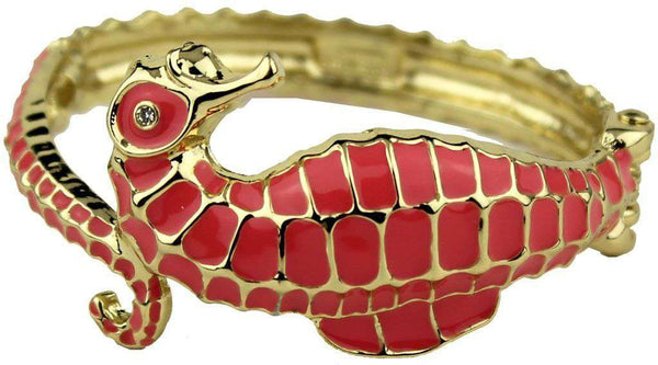 Under the Sea Bracelet in Gold and Coral by Fornash