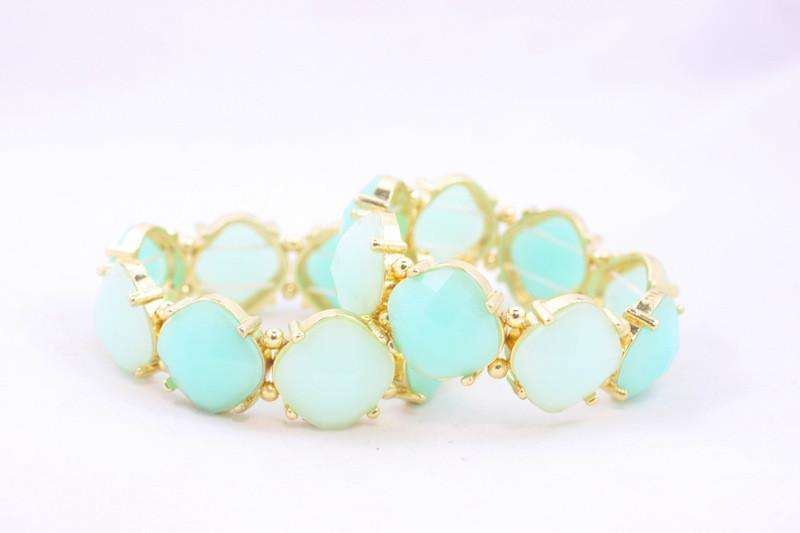 Bracelets - Watercolor Bracelet In Aqua By Caroline Hill