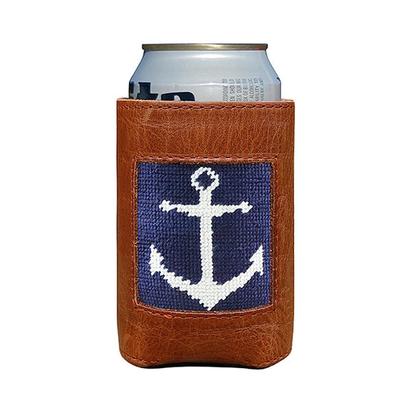 Anchor Needlepoint Can Cooler by Smathers & Branson