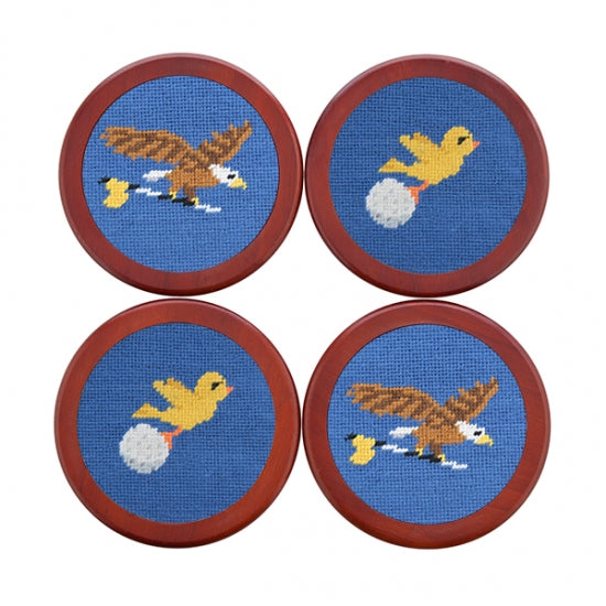 Birdie Eagle Needlepoint Coasters by Smathers & Branson