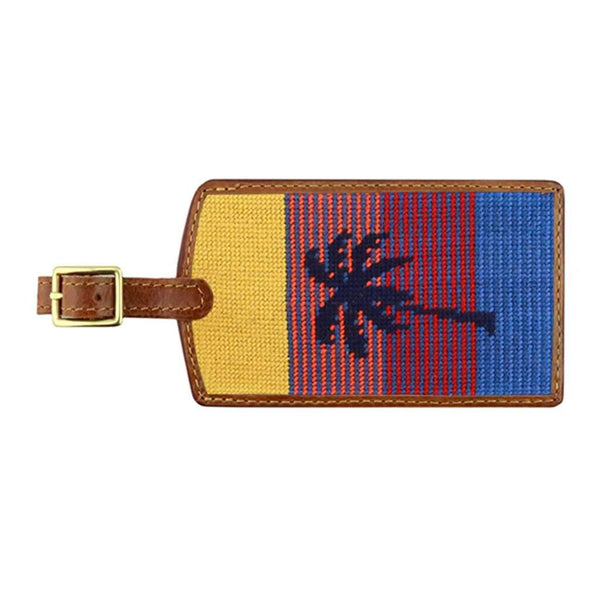 South Beach Needlepoint Luggage Tag by Smathers & Branson