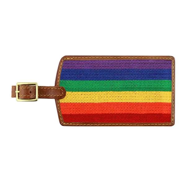 Rainbow Needlepoint Luggage Tag by Smathers & Branson