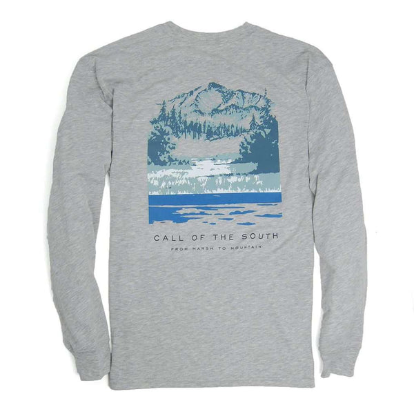 Southern Proper Long Sleeve Call of the South Tee in Heather Grey