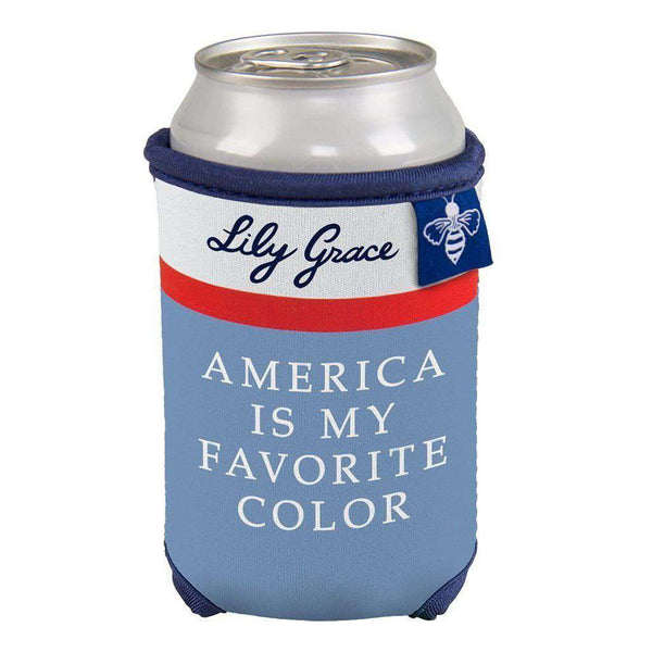 America is My Favorite Color Can Holder by Lily Grace