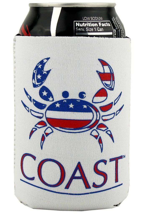 American Crab Can Holder in White by Coast - FINAL SALE