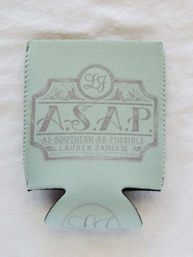 Can Holders - As Southern As Possible Can Holder In Mint By Lauren James - FINAL SALE