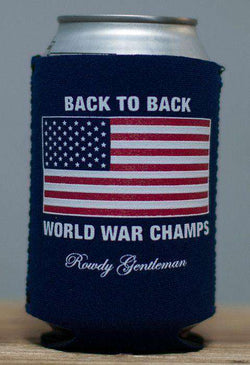 Can Holders - Back To Back World War Champs Can Holder In Navy By Rowdy Gentleman