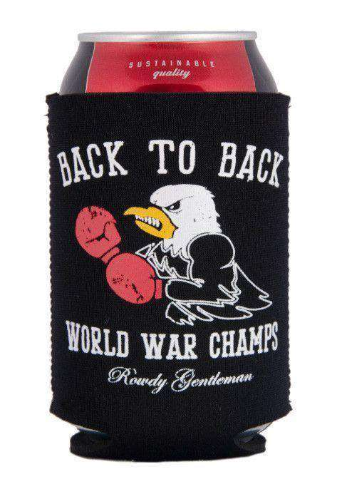 Can Holders - Back To Back World War Champs Eagle Edition Can Holder In Black By Rowdy Gentleman